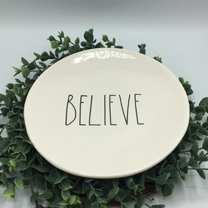 New Rae Dunn Christmas BELIEVE Plate